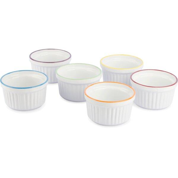 Stoneware Round Creme Brulee Ramekins (Set of 6) by Uno Casa