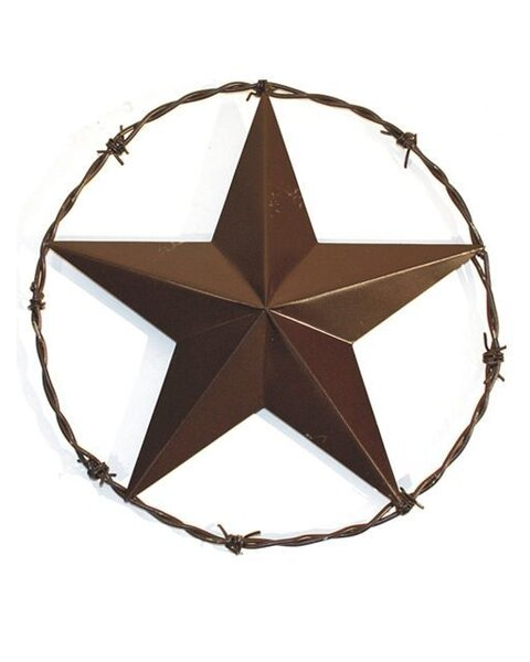 Barbwire Ringed Twenty Three Inch Star Wall Décor by Leigh Country