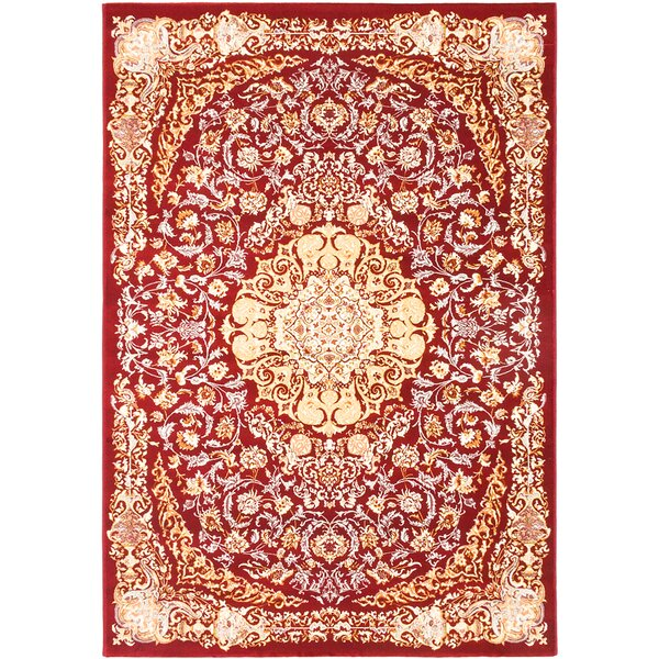 Krittika Dark Red/Cream Area Rug by Astoria Grand
