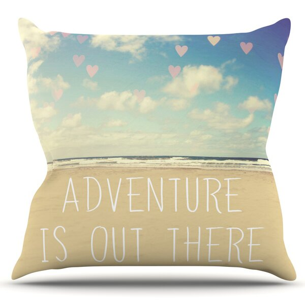 Adventure is Out There by Sylvia Cook Outdoor Throw Pillow by East Urban Home