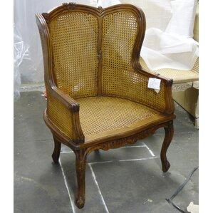 double caned armchair