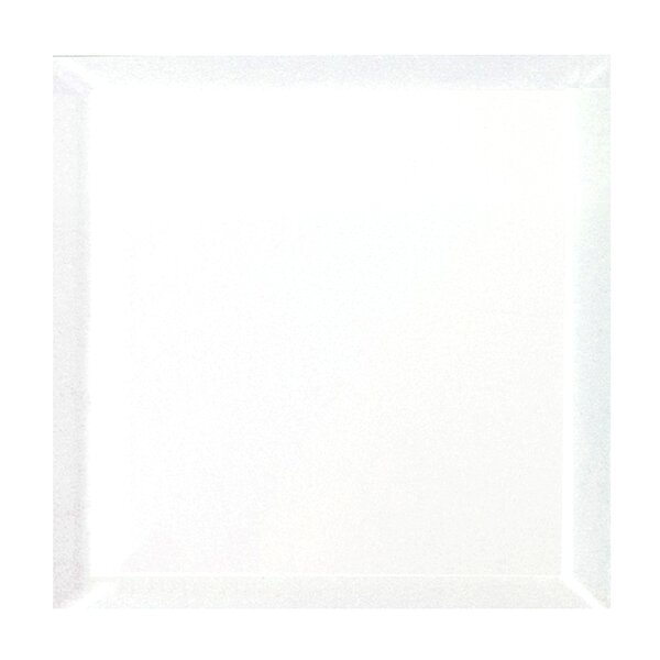 Frosted Elegance 8 x 8 Glass Tile in Glossy White by Abolos