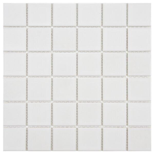 Arctic 2 x 2 Porcelain Mosaic Tile in White by EliteTile