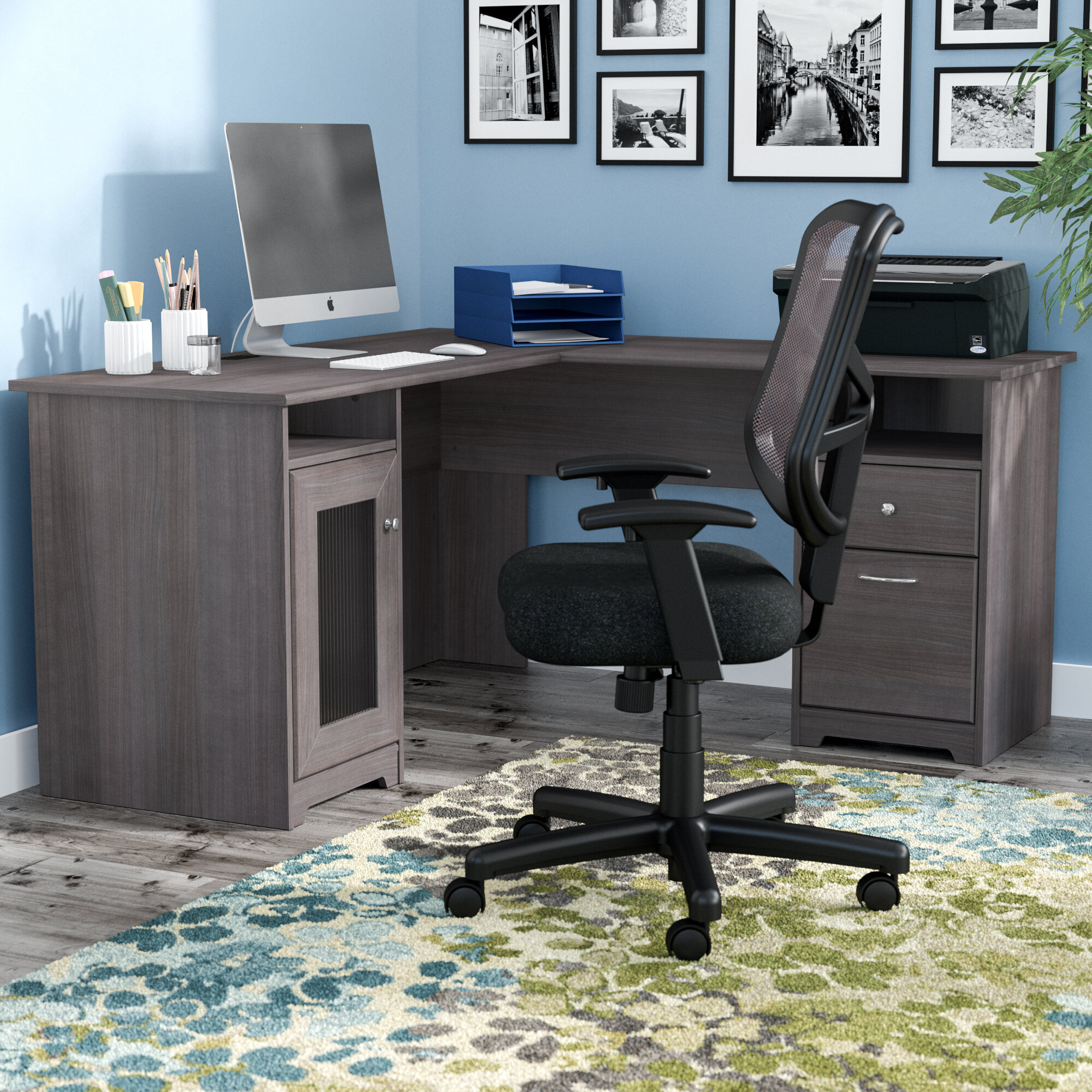 new concept df38d 9c44c Hillsdale L-Shape Desk and Chair Set