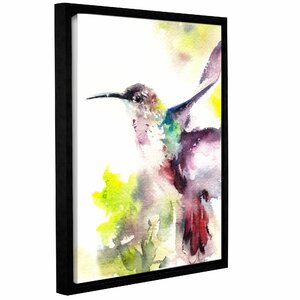 Hummingbird Framed Painting Print by Latitude Run