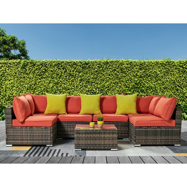 Safiya Patio Sectional with Cushions by Ivy Bronx