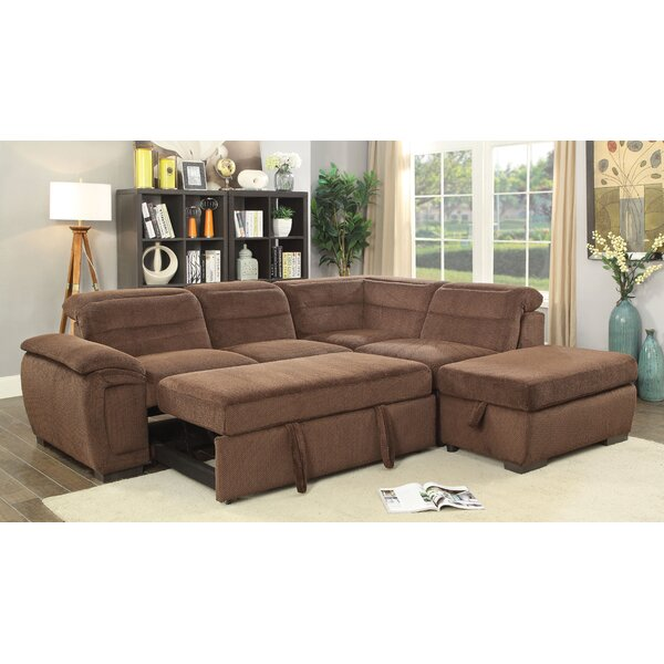 Gorski Sleeper Sectional with Ottoman by Ebern Designs