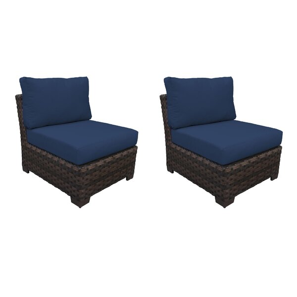 Kathy Ireland Homes & Gardens River Brook Armless Patio Chair (Set of 2) by kathy ireland Homes & Gardens by TK Classics kathy ireland Homes & Gardens by TK Classics