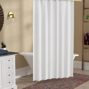 Ivory Waffle Shower Curtain