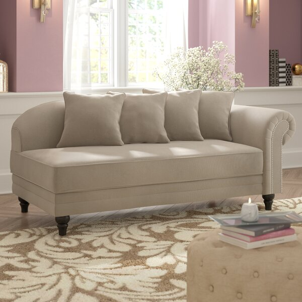 Hymes Velvet Upholstered Chaise Lounge by House of Hampton
