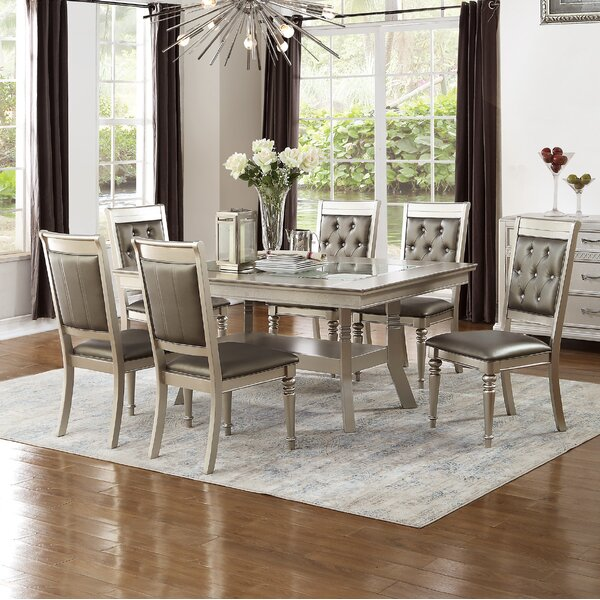 Hartell 7 Piece Dining Set by Rosdorf Park