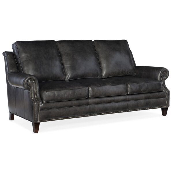 Roe Leather Sofa by Bradington-Young Bradington-Young