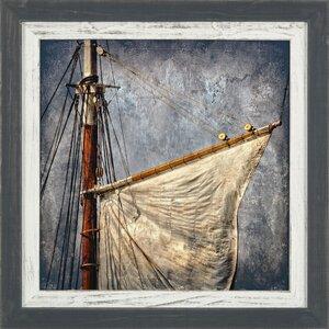 'Coastal Foresail' Framed Photographic Print by Ashton Wall Décor LLC