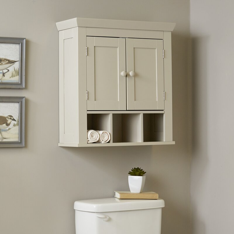 White Bathroom Wall Cabinets birch lane™ caraway bathroom wall cabinet & reviews | wayfair