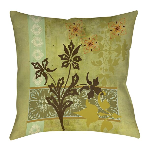 Collage Blossoms Printed Throw Pillow by Manual Woodworkers & Weavers
