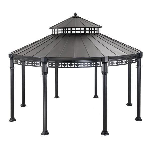 Kwindsor Round 14 Ft. W x 14 Ft. D Metal Patio Gazebo by Sunjoy