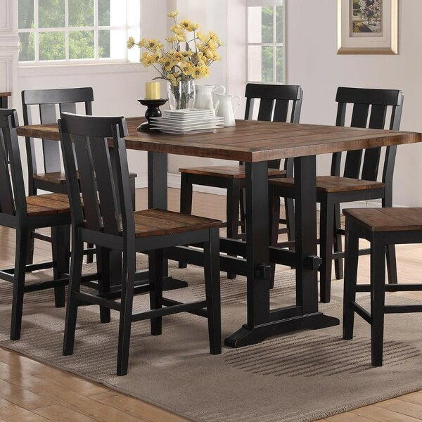 Amir Counter Height Solid Wood Dining Table by Gracie Oaks