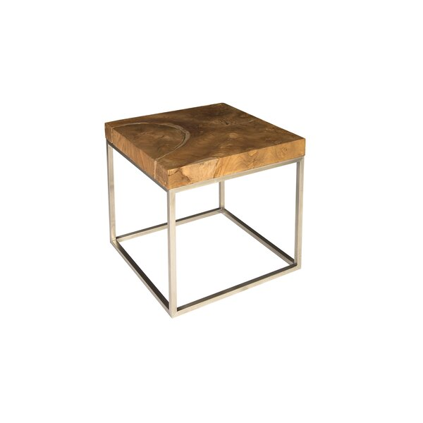 Teak Puzzle End Table By Phillips Collection