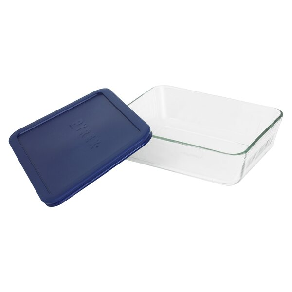 Storage 6-Cup Rectangular Dish with Cover by Pyrex