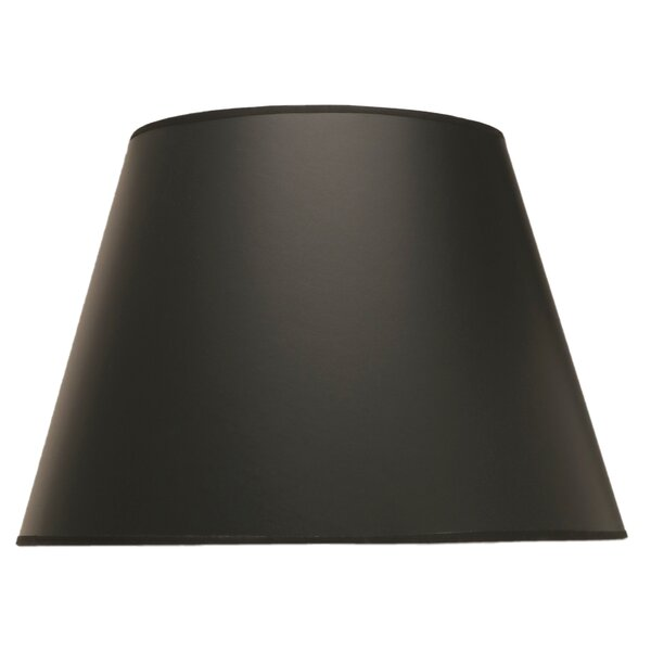 11 H Fabric Empire Lamp Shade ( Spider ) in Black Opaque Gold Foil