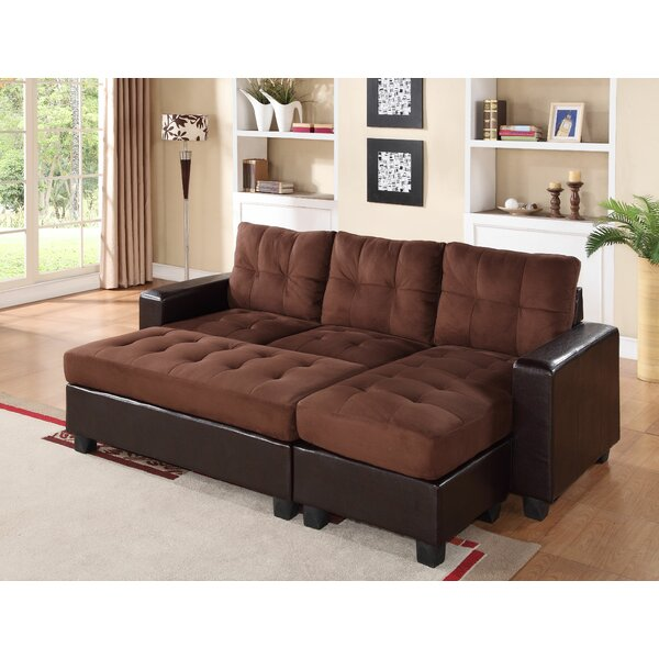 Norris Diamond Sectional with Ottoman by Latitude Run