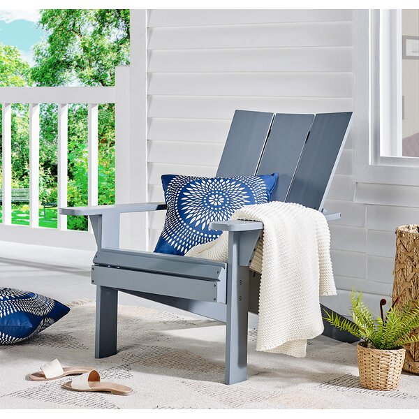 Deleon Acacia Solid Wood Adirondack Chair by Highland Dunes Highland Dunes
