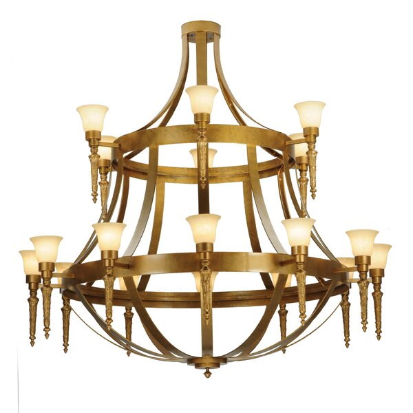 Meaghan 18 - Light Shaded Tiered Chandelier By Astoria Grand