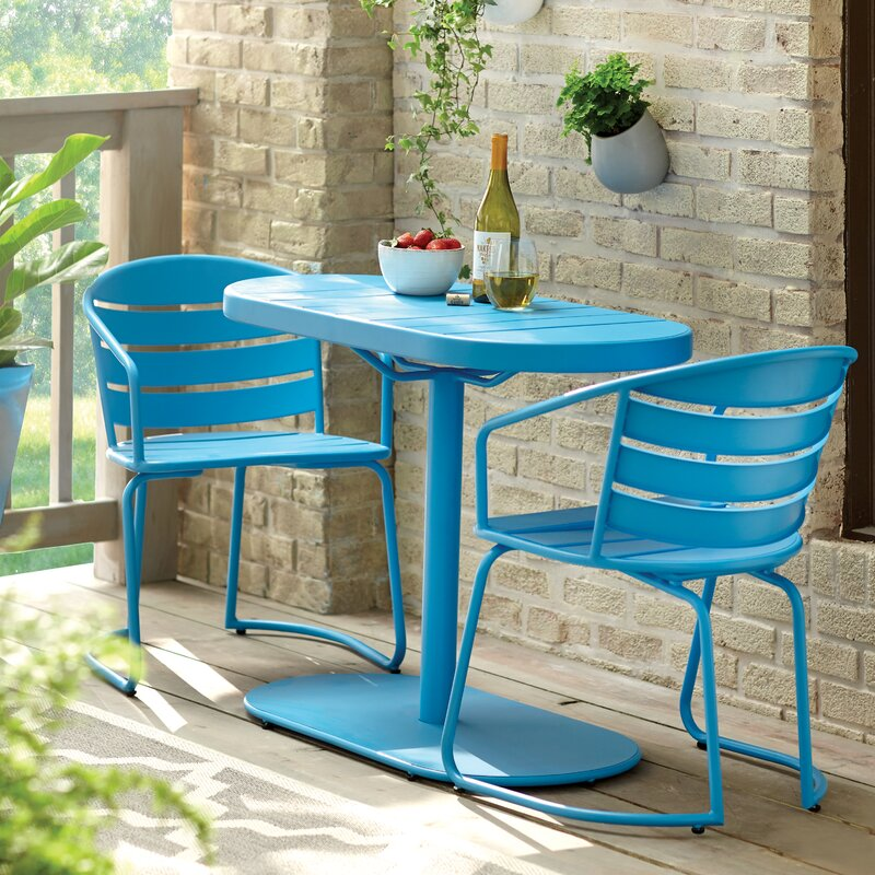 Zipcode Design Harlan 3 Piece Bistro Set & Reviews | Wayfair