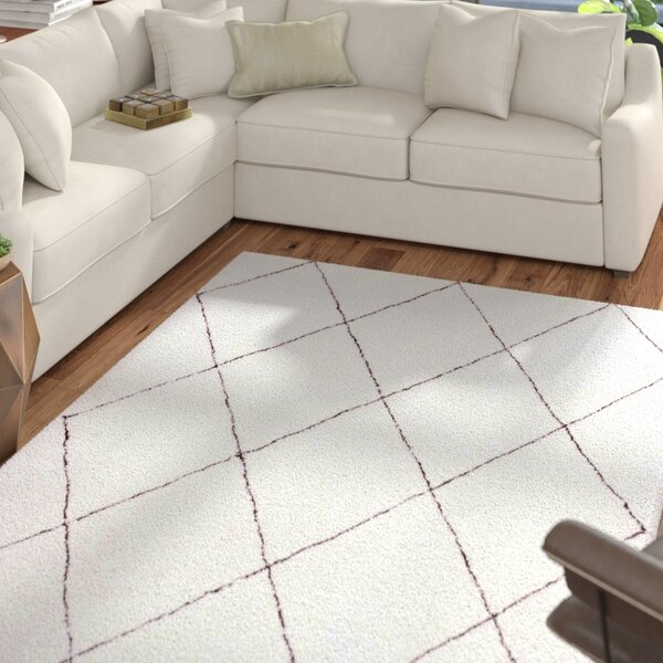 Glade Hand-Tufted Ivory Area Rug by Mercury Row