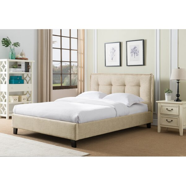 Almaguer Upholstered Platform Bed by Wrought Studio