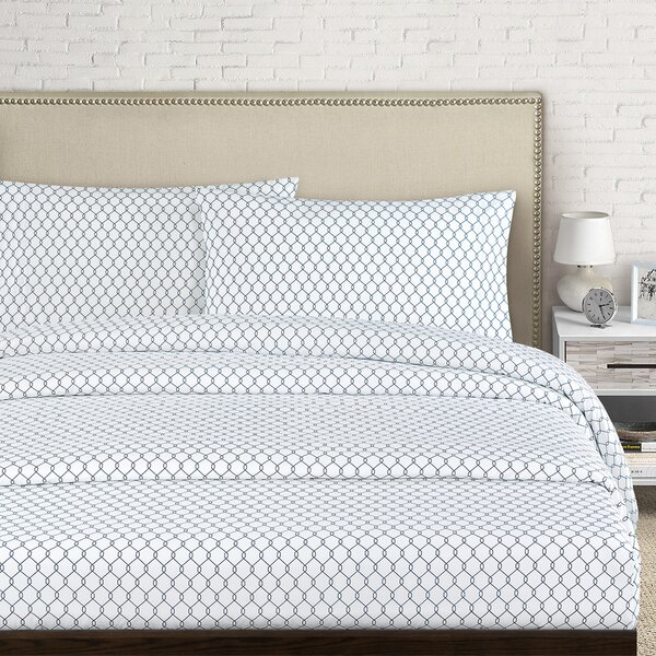Fence 250 Thread Count Cotton Percale Sheet Set by Echelon Home