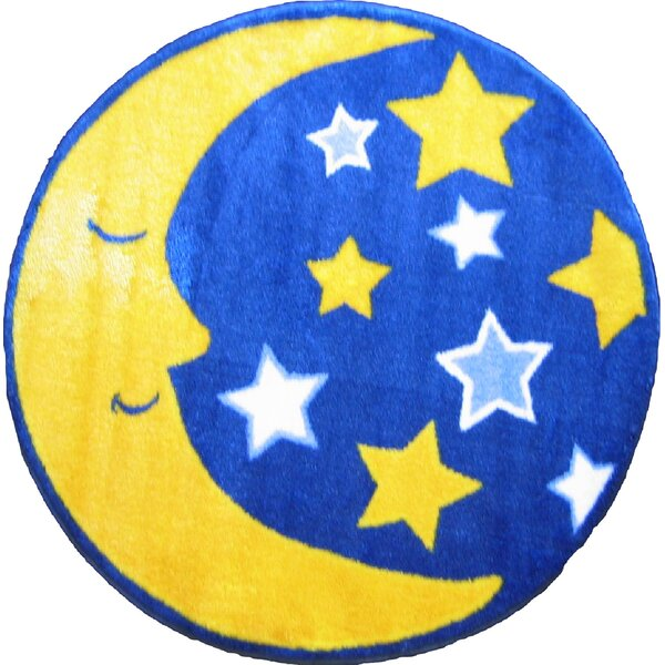 Fun Shape High Pile Moon and Stars Space Area Rug by Fun Rugs