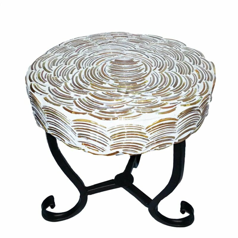 Superbe Fanette Round Mosaic Side Table