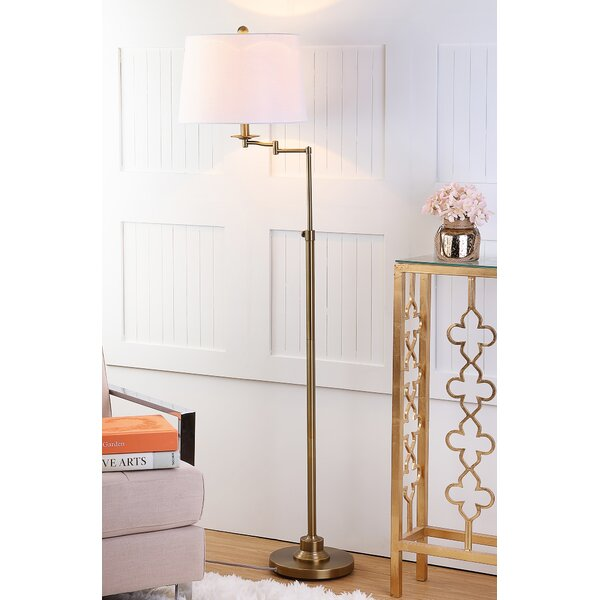 Nadia 64.25 Swing Arm Floor Lamp by Safavieh