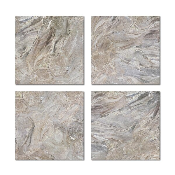 6 x 6 Beveled Glass Field Tile in Beige by Upscale Designs by EMA