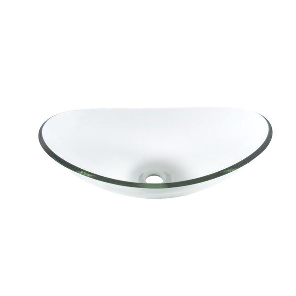 Chiaro Glass Oval Vessel Bathroom Sink by Novatto