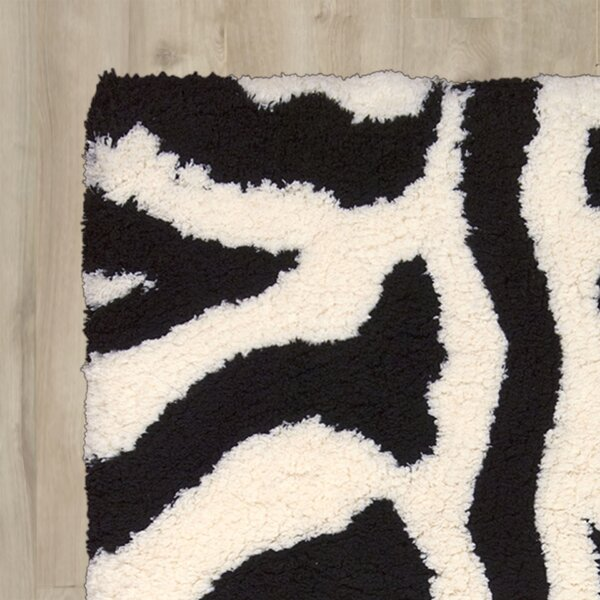 Hayons Ivory/Black Area Rug by House of Hampton