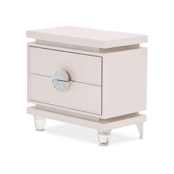 Glimmering Heights 2 Drawer Nightstand by Michael Amini