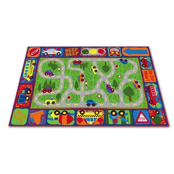 Driving Road Area Rug by Kid Carpet