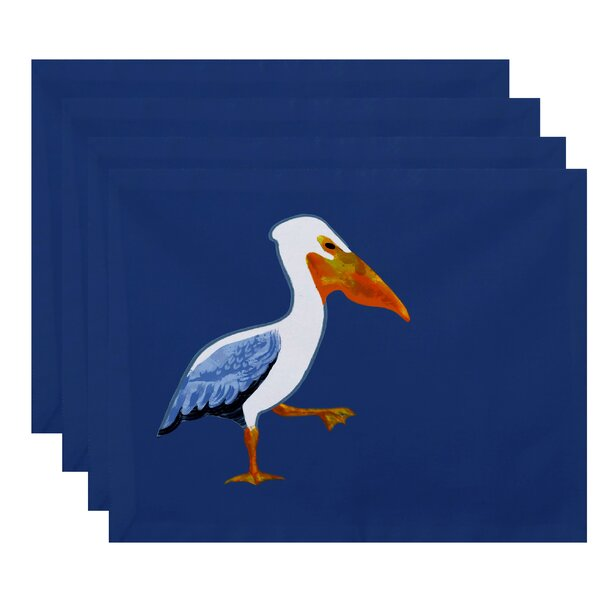 Dryden Pelican March Animal Print Placemat (Set of 4) by Breakwater Bay