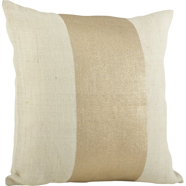 Laurel Banded Cotton Throw Pillow by Beachcrest Home