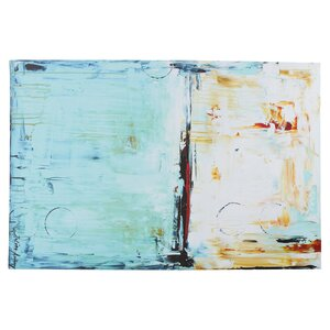'Abstract in Blue' by Jolina Anthony Print Painting on Canvas by Wrought Studio