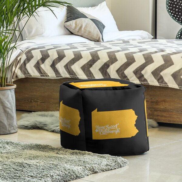 Pittsburgh Pennsylvania Cube Ottoman By East Urban Home