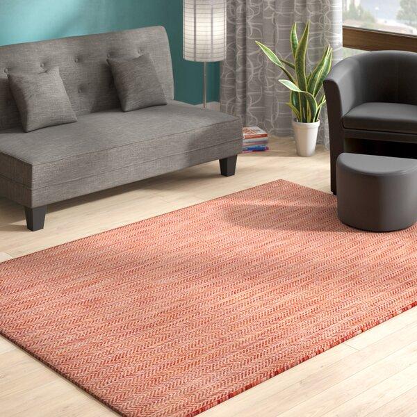 Red/Beige Indoor/Outdoor Area Rug by Modern Rustic Interiors