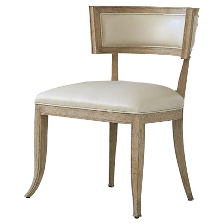 Klismos Genuine Leather Upholstered Dining Chair by Global Views