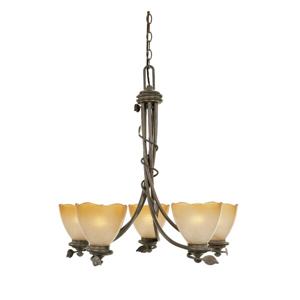 Gorby 5-Light Shaded Classic / Traditional Chandelier By Fleur De Lis Living
