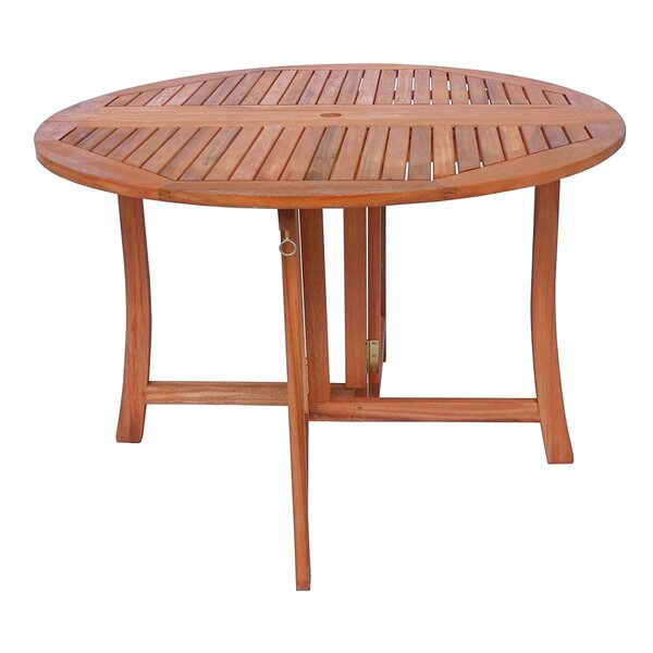 Arvin Eucalyptus Folding Wooden Bistro Table by August Grove