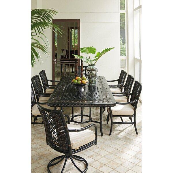 Marimba 9 Piece Dining Set with Sunbrella Cushions