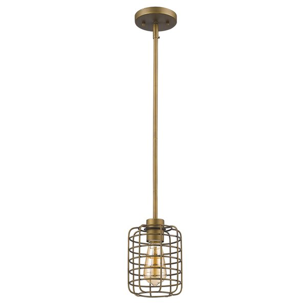 Shirlene 1-Light Drum Pendant by Williston Forge
