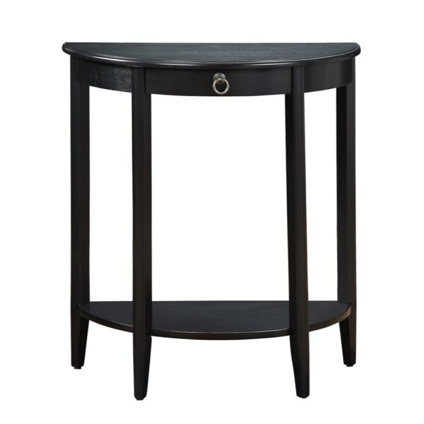 Review Mullan Half Moon Console Table